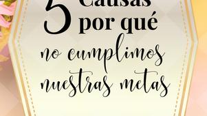 🎧 5 causas por qué no cumplimos nuestras metas.