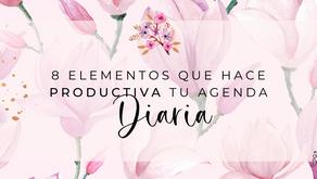 🎧8 Elemento que hace productiva tu agenda diaria.