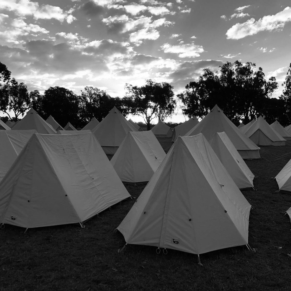 Scout Tents at Vanfest 2019 - Forbes NSW