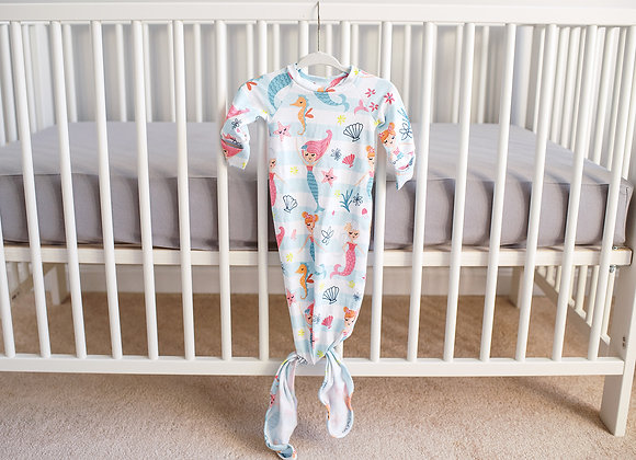 Mermaid knotted baby gown