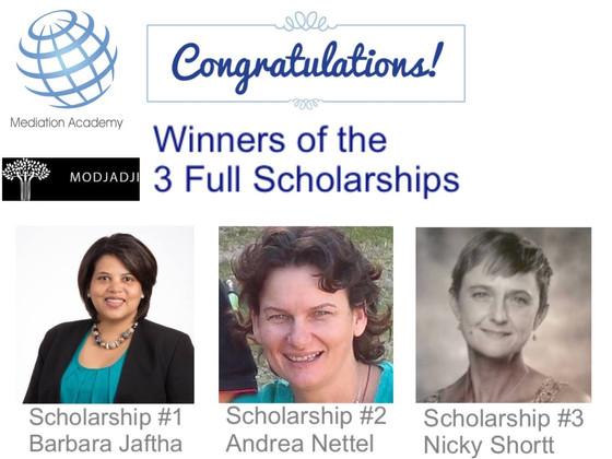 Mediation Academy Full Scholarships Awarded