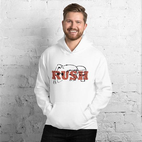 Mount Rush-more Red Unisex Hoodie