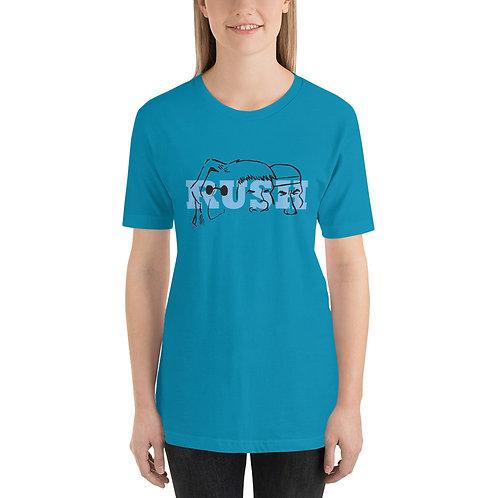 Mount Rush-more Blue Short-Sleeve Unisex T-Shirt