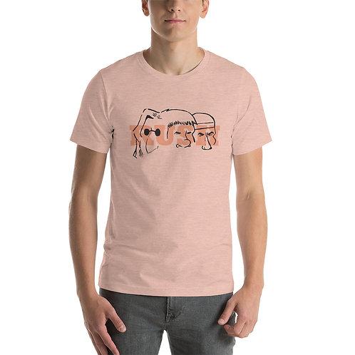 Mount Rush-more  Orange Short-Sleeve Unisex T-Shirt