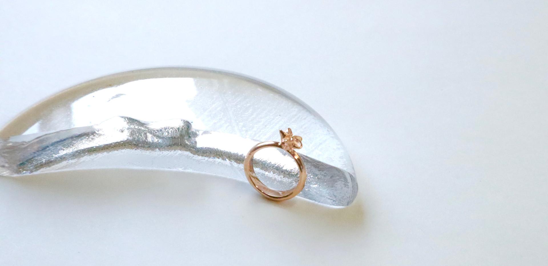 Baby ring:Pink plumeria