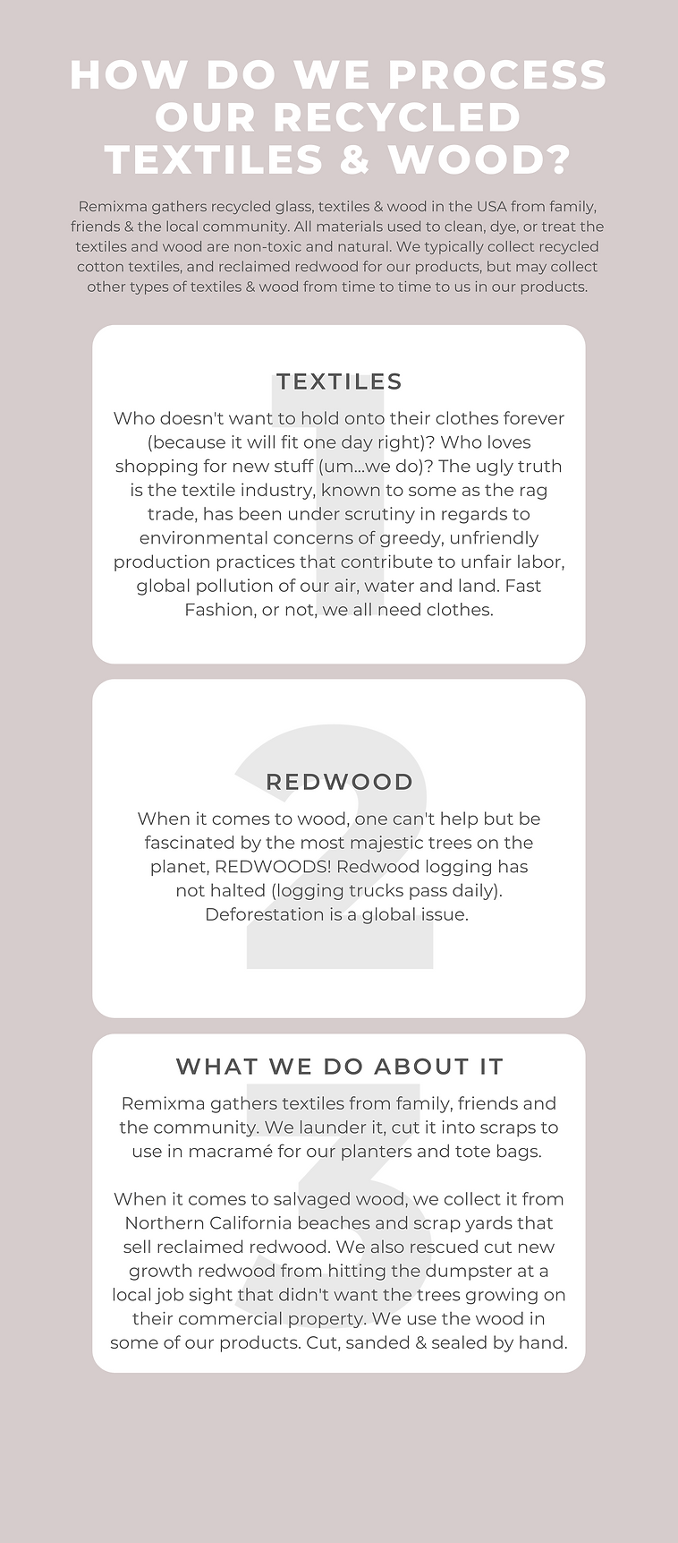 what we recycle glass, textiles and wood