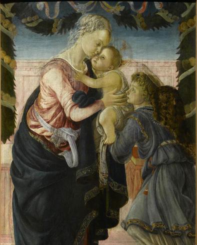 Botticelli Madonna col Bambino e angelo
