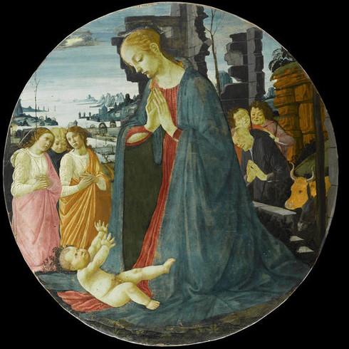 La-Vierge-adorant-l-Enfant-avec-trois-an
