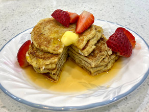 deliciously, healthy banana pancakes
