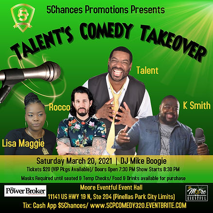 IG 5CP Talents Comedy Takeover 3-20-21 (