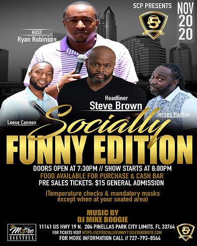 Socially Funny moore Comedy flyer templa