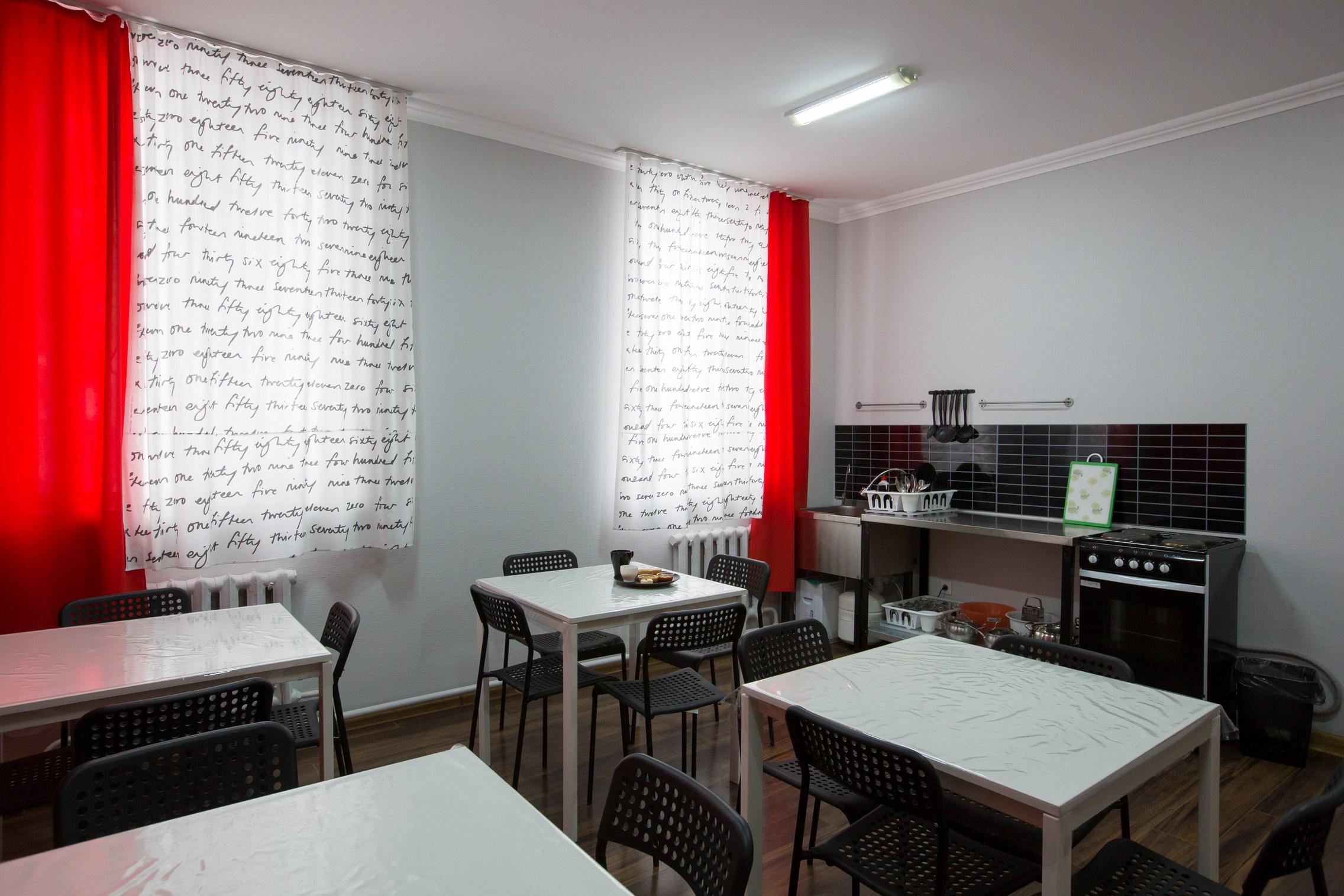 Кухня Hostelland Astana