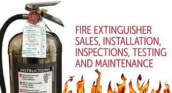 Trinity Fire Carries Dry Chemical, Water, CO2,Clean Carbon,  Potassium Base Extinguishes. We Certify, Recharge, Hrydo Test, and Install Fire Extingushiers.