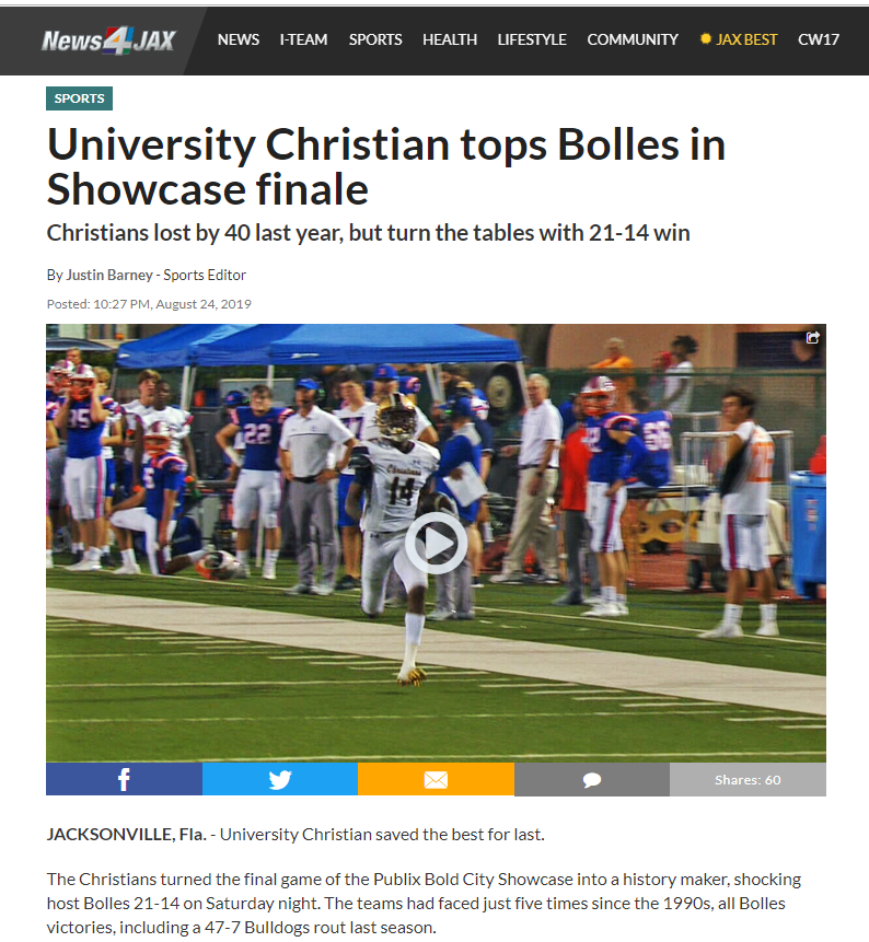 University Christian tops Bolles in Showcase finale