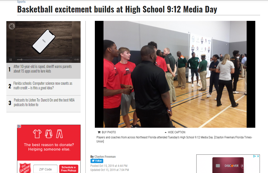 Basketball excitement builds at High School 9:12 Media Day