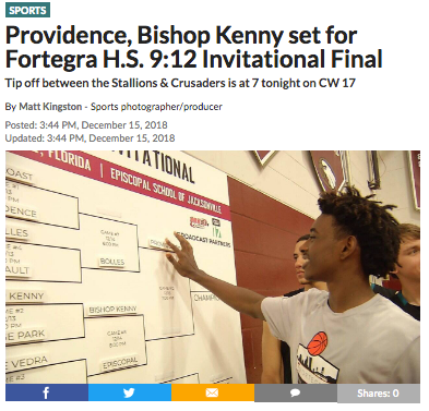 Providence, Bishop Kenny set for Fortegra H.S. 9:12 Invitational Final