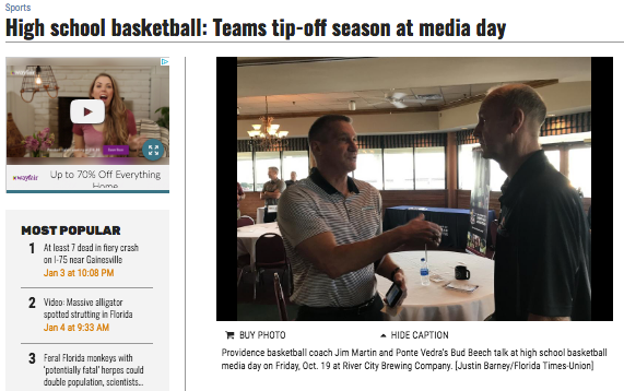 High school basketball: Teams tip-off season at media day