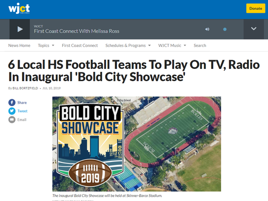 6 Local HS Football Teams To Play On TV, Radio In Inaugural 'Bold City Showcase'