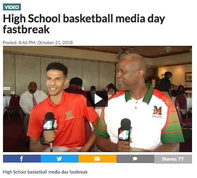 High School basketball media day fastbreak