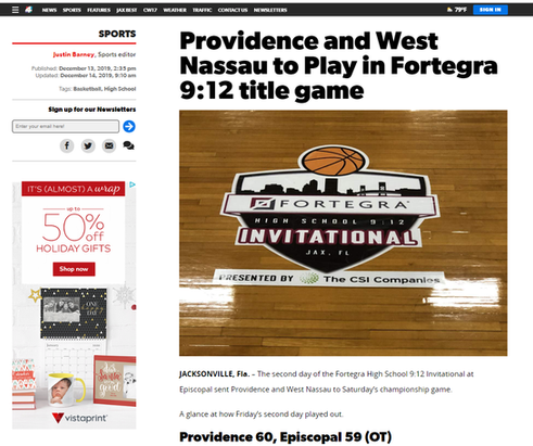 Providence and West Nassau to Play in Fortegra 9:12 title game