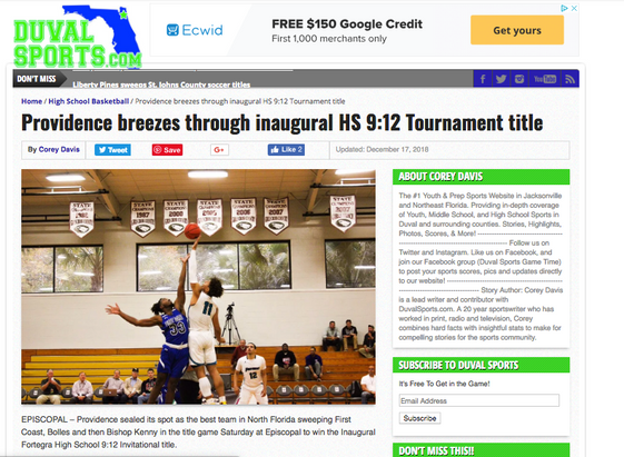Providence breezes through inaugural HS 9:12 Tournament title