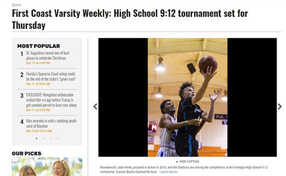High School 9:12 tournament set for Thursday