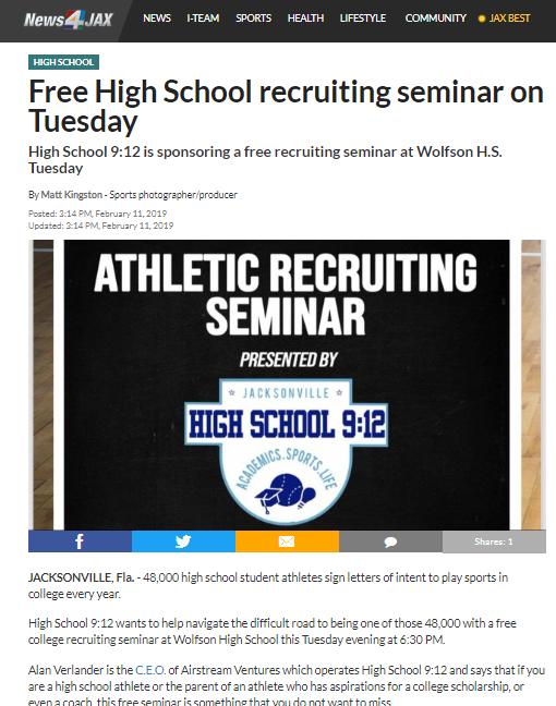 Free High School recruiting seminar on Tuesday