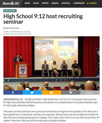 High School 9:12 host recruiting seminar