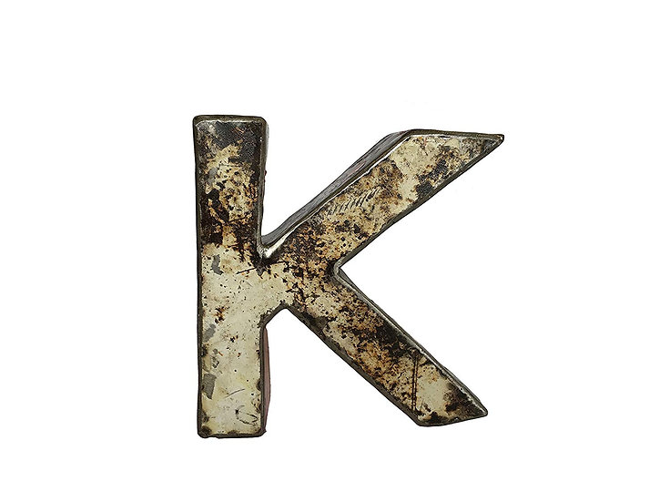 "Recycled Metal Letter ""K"""