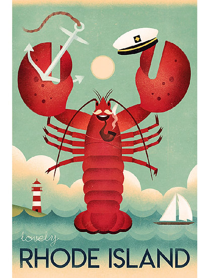 Wickstrom Lobster Postcard