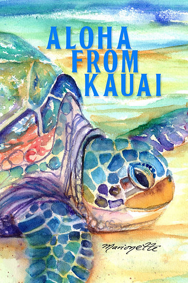 MT Rainbow Turtle Postcard
