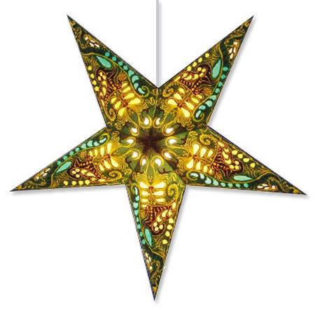 Filigree Star Light in Green