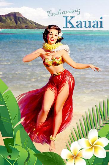 Hula Beach Postcard