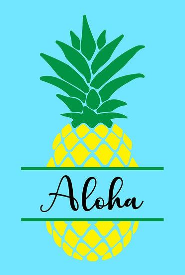 Aloha Pineapple Metal Sign