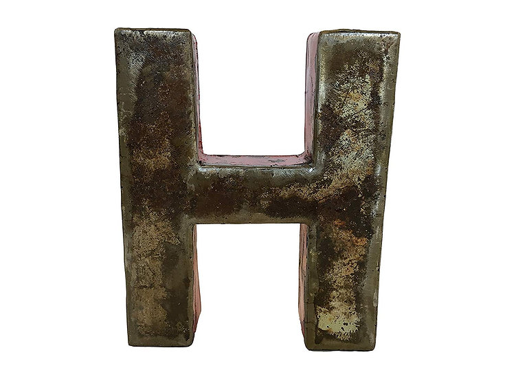 "Recycled Metal Letter ""H"""