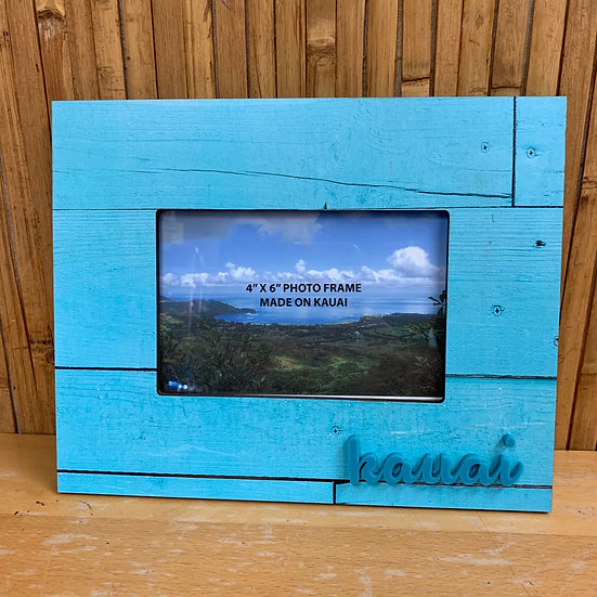 Blue Kauai Frame with Raised Letters