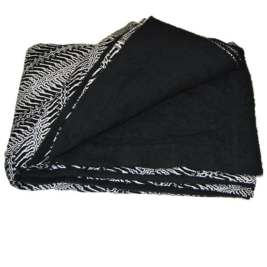 Sarong Towel - Black/White Smoke