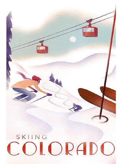 Wickstrom Snow Skiing Postcard