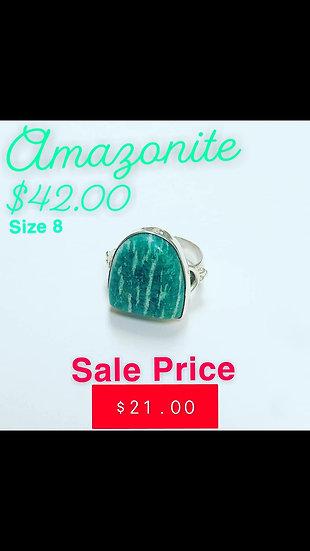 Amazonite Horseshoe Ring