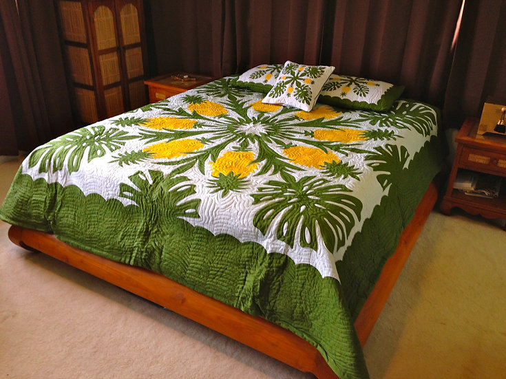 Pineapple King Size Hawaiian Style Quilt