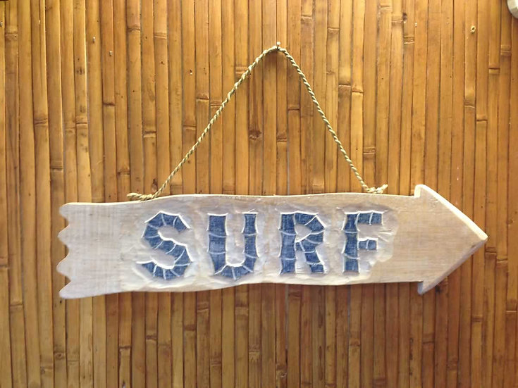 Surf Arrow Sign in White