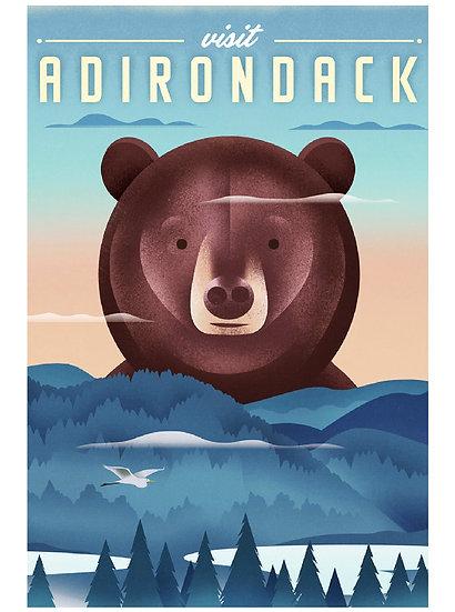 Wickstrom Adirondack Postcard