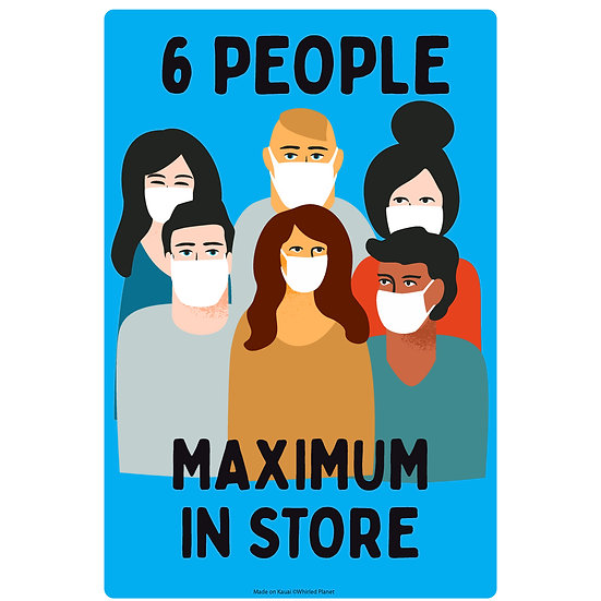 Maximum People Metal Sign 3 Pcs.