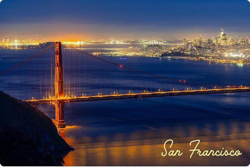Evening Golden Gate Postcard