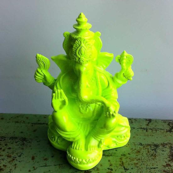 Resin Ganesha in Neon Green