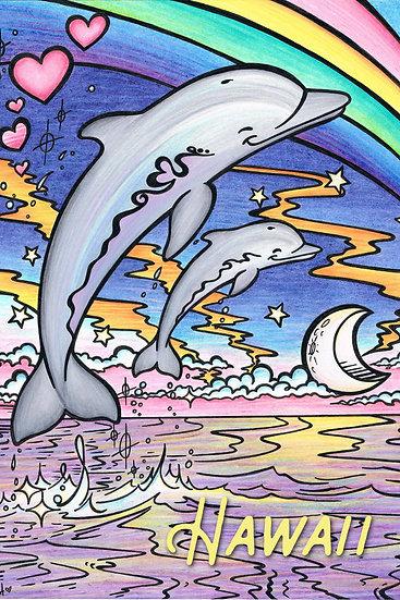 CH Rainbow Dolphins Postcard