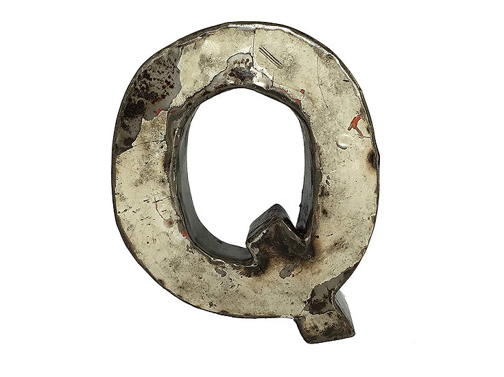 """Recycled Metal Letter """"Q"""""""