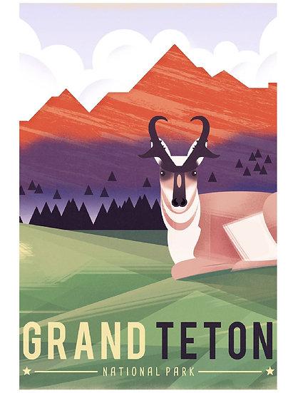 Wickstrom Teton Postcard