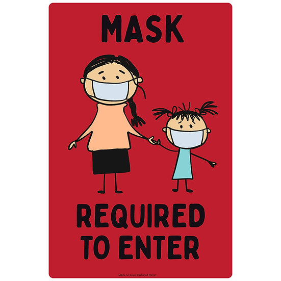 Mask Required Humorous Metal Sign