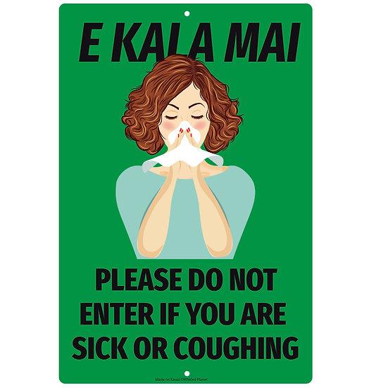Coughing Hawaiian Metal Sign 3 Pcs.